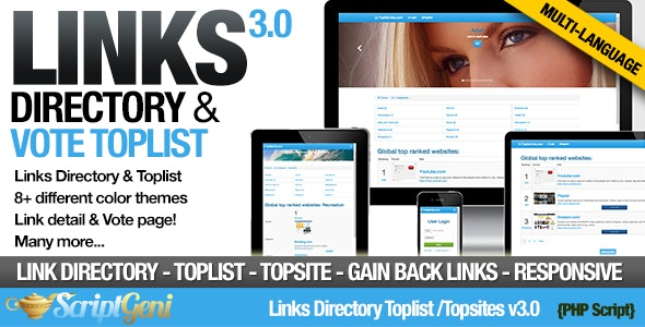 Links Directory & Toplist - CodeCanyon Item for Sale