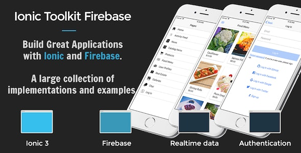Ionic 3 Toolkit Firebase Personal Edition - Full Application with Firebase Backend - CodeCanyon Item for Sale