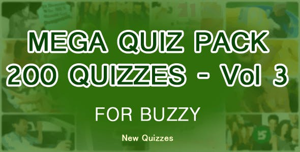 200 Quizzes Mega Pack for Buzzy - Vol 3