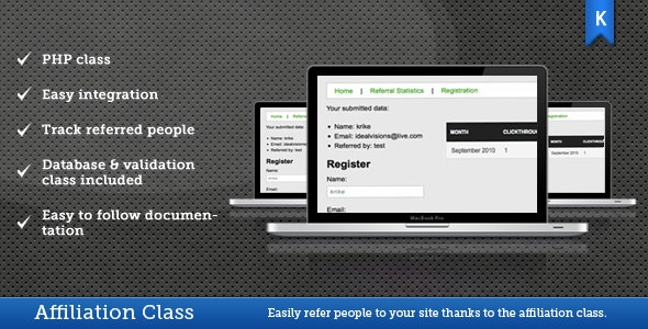 Affiliation class - CodeCanyon Item for Sale
