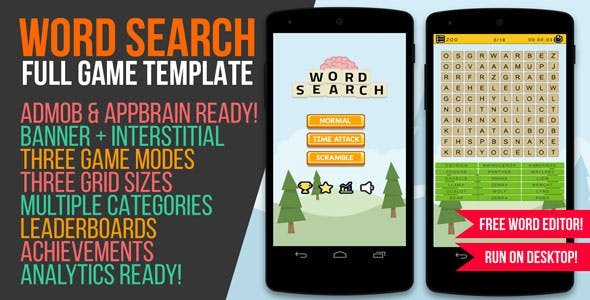 Word Search Game with Admob