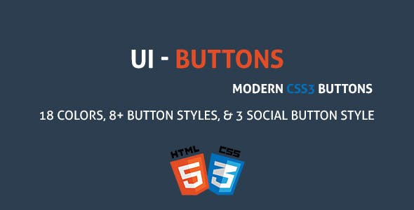 UIButton - A Modern CSS3 Buttons Collection