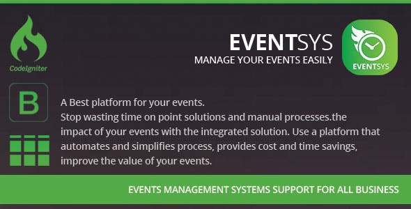 Eventsys & Events Management System