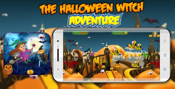 The Halloween Witch Adventure - Admob Banner & Interstitial- Eclipse project - CodeCanyon Item for Sale