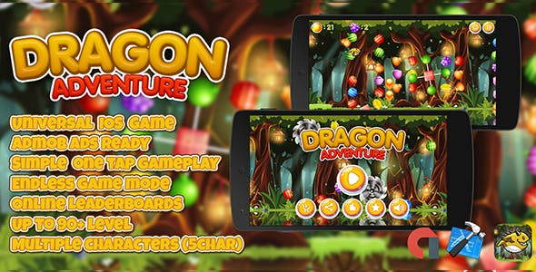 Dragon Adventure + IOS XCODE Admob + Multiple Characters