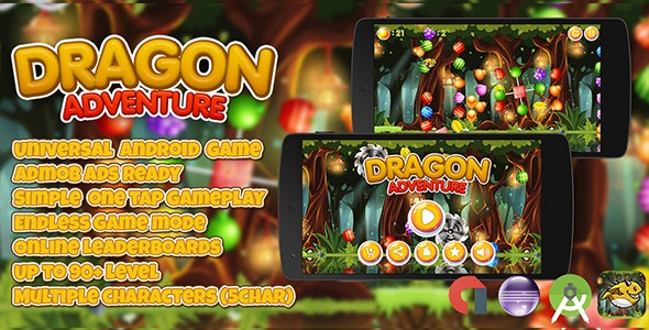 Dragon Adventure + Admob (Android Studio + Eclipse) Multiple Characters - CodeCanyon Item for Sale