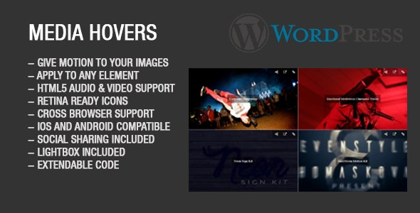 Media Hovers Wordpress Plugin - CodeCanyon Item for Sale