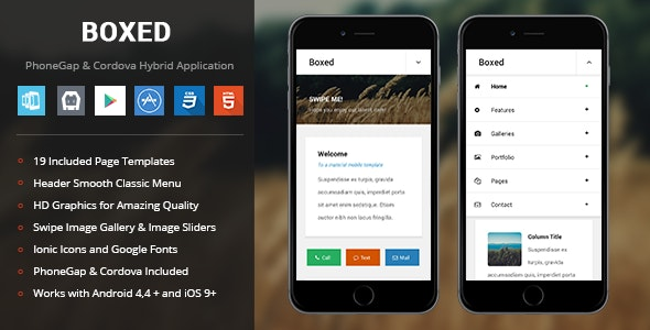 Boxed | PhoneGap & Cordova Mobile App - CodeCanyon Item for Sale