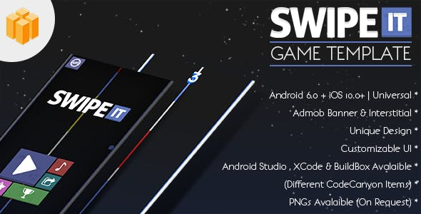 Swipe IT - Android Studio Project + AdMob Banner + Interstitial + IAP