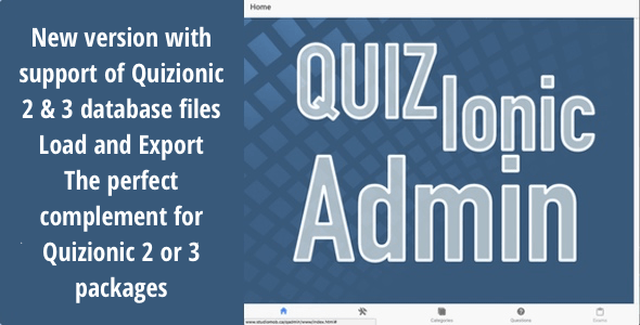 Quizionic Admin Panel for Quizionic (2,3 and 4 versions) - New Version