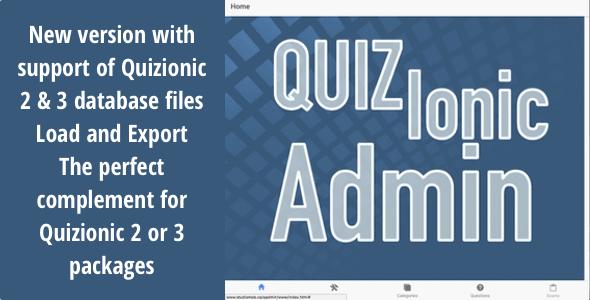 Quizionic Admin Panel for Quizionic 2 & 3 - New Version