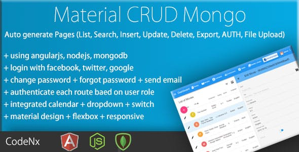 MEAN Material CRUD - AngularJS Materialized CRUD With MongoDB