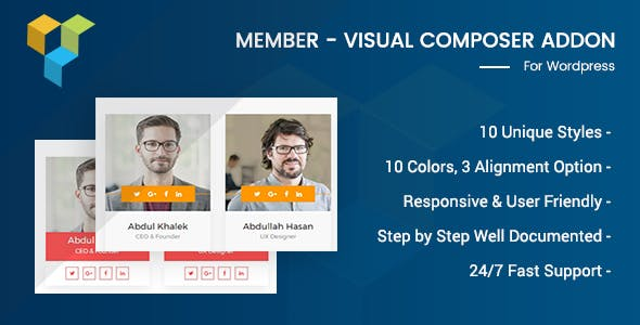 Member - Visual Composer Addon