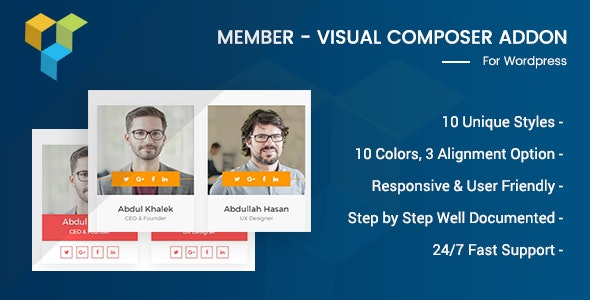 Member - Visual Composer Addon - CodeCanyon Item for Sale