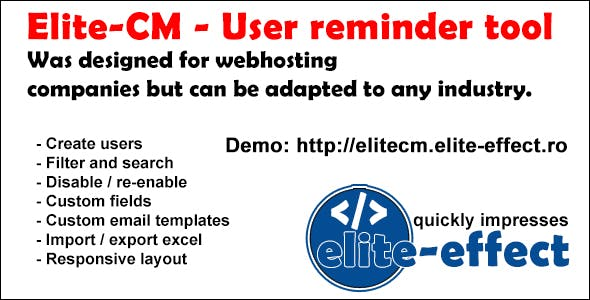 Elite-CM - User reminder tool (v.2.1)