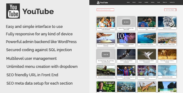 YouTube - YouTube Video Collection CMS - CodeCanyon Item for Sale