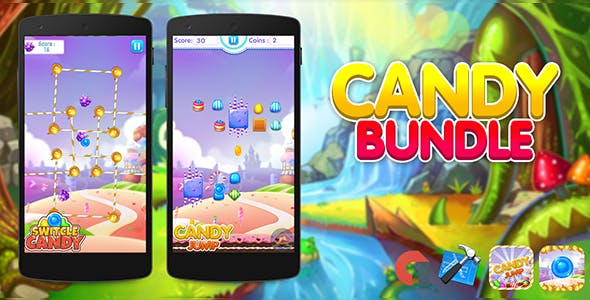 Candy Bundle ( 2 Games ) + Admob + IOS Xcode Project