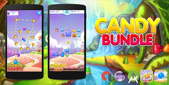 Candy Bundle ( 2 Games ) + Admob + Android Studio + Eclipse