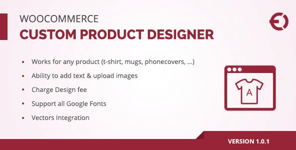 Woocommerce Custom Product Designer for T-Shirt, Cup, Caps, Cards