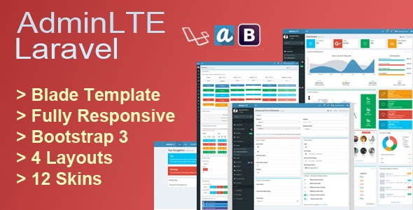 AdminLTE Laravel by smartrahat | CodeCanyon
