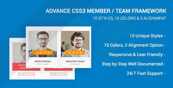 Advance CSS3 Member/Team Framework