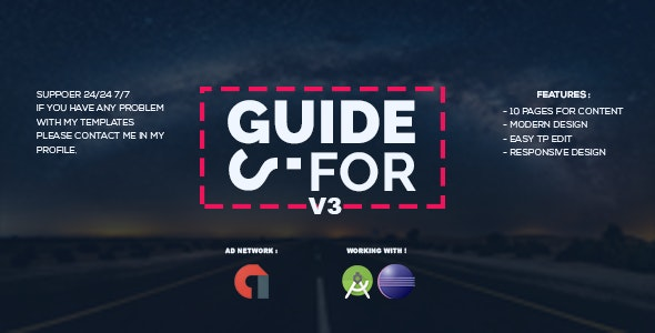 Guide For / How to / Tips For V3 - New App Guide ( For Android) - CodeCanyon Item for Sale