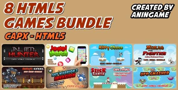 8 HTML5 Game Bundle