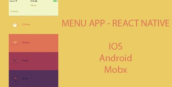 Menu App - React Native App - CodeCanyon Item for Sale