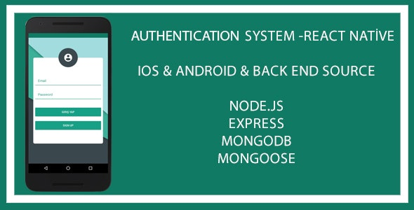 Authentication System App - React Native - CodeCanyon Item for Sale