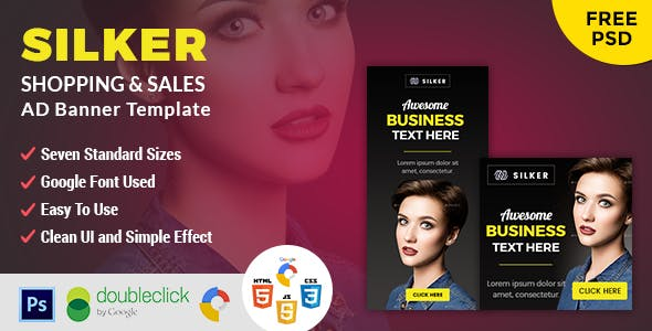 Silker | Business HTML 5 Animated Google Banner