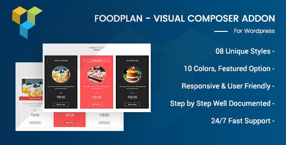 Foodplan - Visual Composer Addon