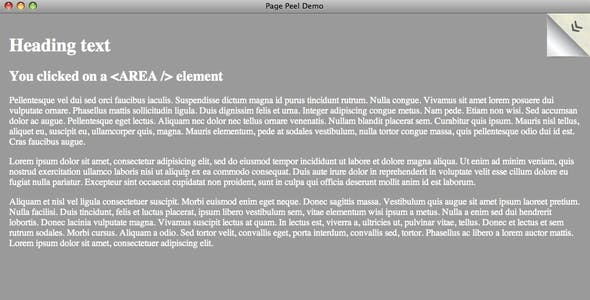 JSized Page Peel