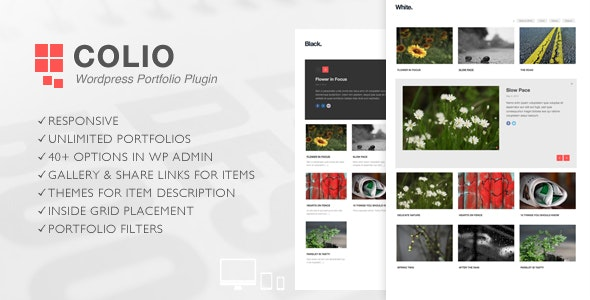 Colio - Responsive Portfolio Wordpress Plugin - CodeCanyon Item for Sale