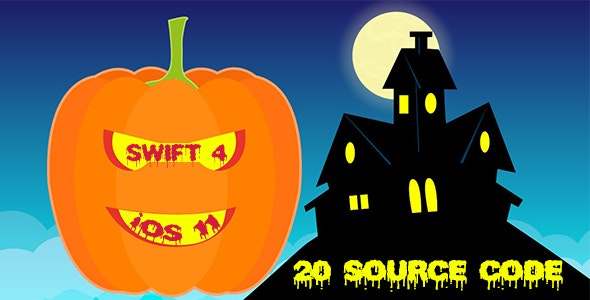 Halloween Bundle Sale - 20 Source Codes in iOS 11 and Swift 4
