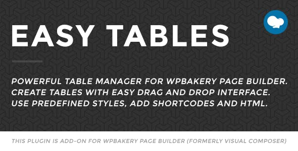 Easy Tables - Table Manager for WPBakery Page Builder        Nulled