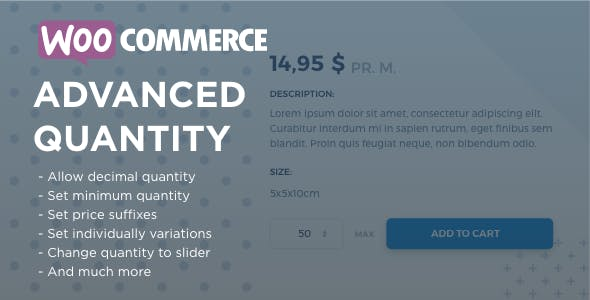 WooCommerce Advanced Quantity
