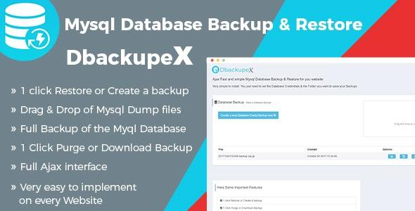 Ajax Mysql Database Backup & Restore script - CodeCanyon Item for Sale