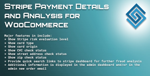Stripe Payment Details and Analysis for WooCommerce - CodeCanyon Item for Sale