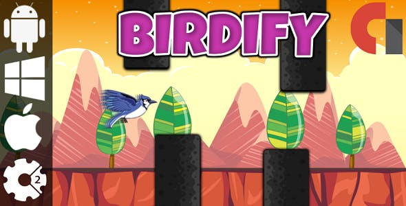 Birdify - HTML5 Game + Admob (Construct 2 - CAPX)