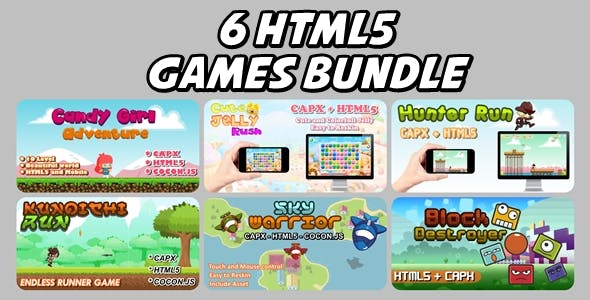 6 Html5 Game Bundle