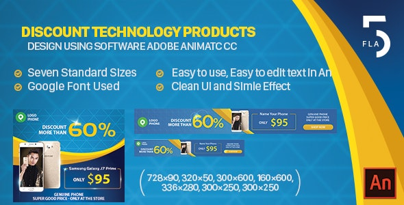 Discount Technology Products - Animated HTML5 Banner Ads