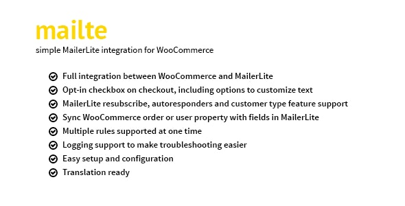 Mailte - MailerLite integration for WooCommerce - CodeCanyon Item for Sale