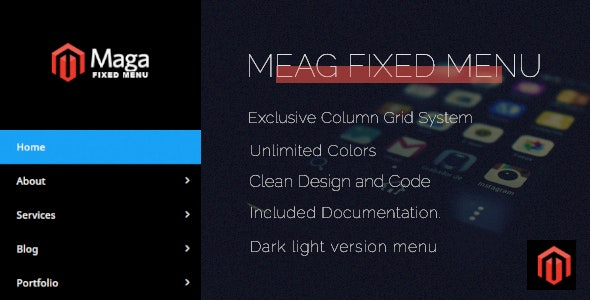 Maga Fixed Menu - CodeCanyon Item for Sale