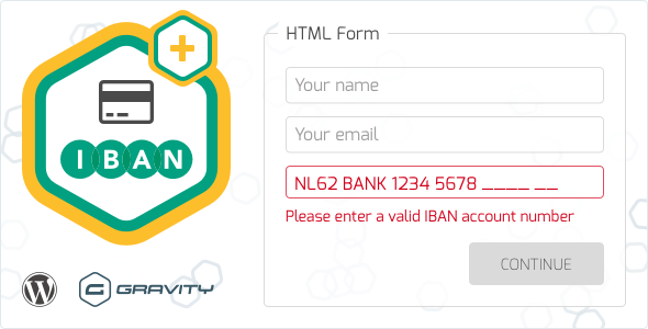 Gravity Forms IBAN Validation - CodeCanyon Item for Sale