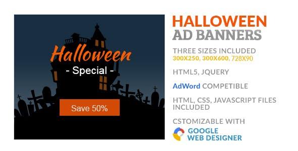 Halloween Sale GWD HTML5 Ad Banner