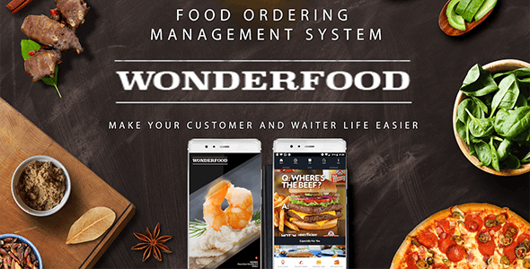 Wonderfood, Food Ordering Management System - CodeCanyon Item for Sale