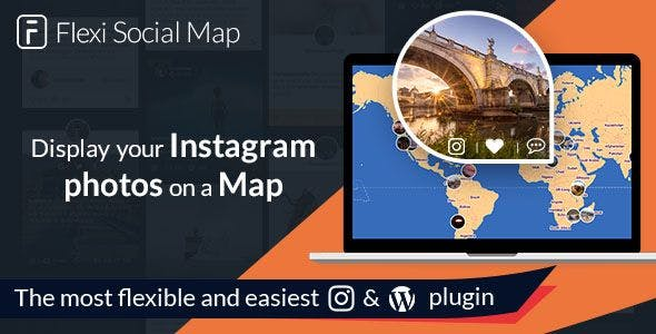 Flexi Social Map - display the map of your Instagram journey