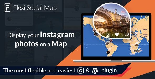 Flexi Social Map - display the map of your Instagram journey - CodeCanyon Item for Sale