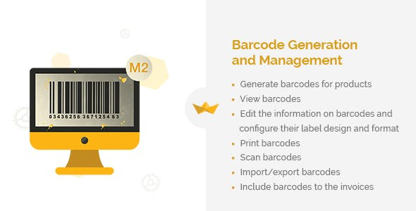 Barcode Generation and Management for Magento 2