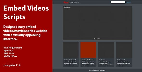 Embed Video Scripts